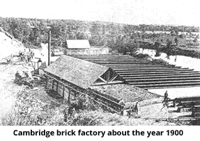 Cambridge Brick Factory about the year 1900