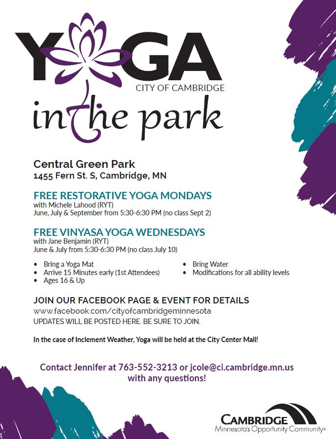 Yoga in the Park Flyer