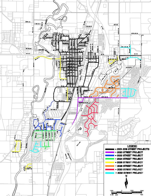 Street Improvements Project Map