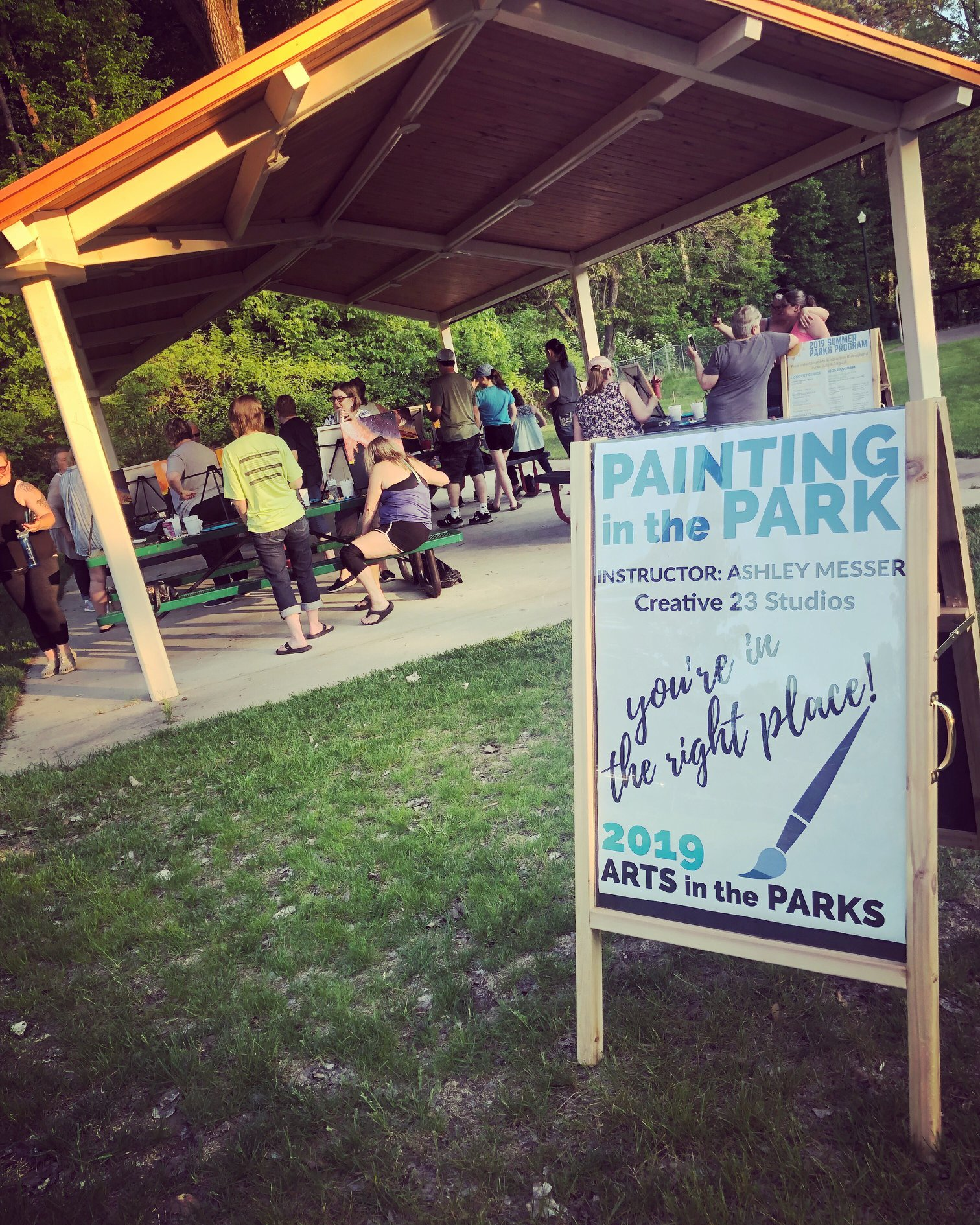 Painting in the Park Sign